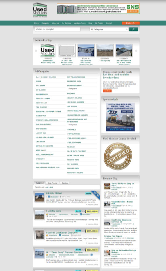 Used Modulars Canada Listing Site graphic
